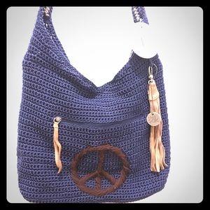 the Sak Crochet hippy boho hobo bag